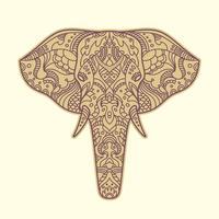 Elefante pintado vetor