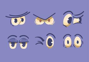 Olhos dos desenhos animados vetor
