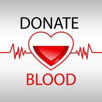 O hospital da ajuda da medicina da doação de sangue salvar o coração da vida. Ilustração realista de vetor