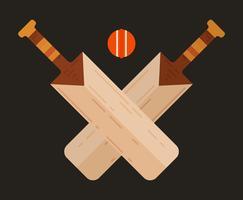 Ilustração de morcego de críquete vetor