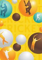 Design de vetor de bola de jogador de críquete