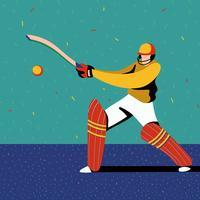 Jogador de críquete vetor