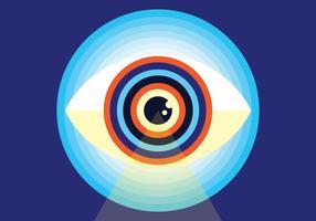 Ilustração vetorial de olho vetor