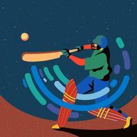 Jogador de críquete batedor vetor