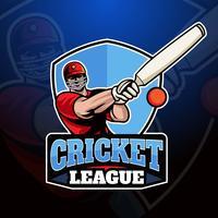 Logotipo de críquete vetor