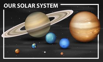 Um diagrama do sistema solar vetor