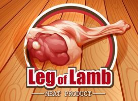 Logotipo da perna de cordeiro vetor