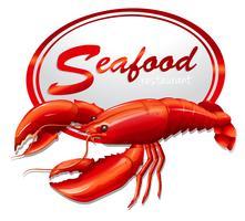Frutos do mar frescos com lagosta vetor