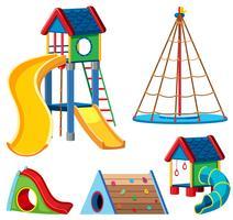 Um conjunto de equipamentos de playground vetor