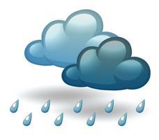 Um tempo chuvoso vetor