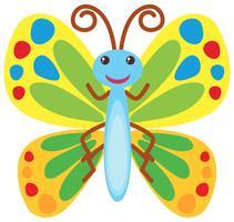Borboleta com asas coloridas vetor