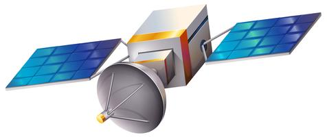 Um satélite vetor