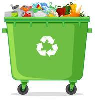 Uma lixeira de reciclagem vetor