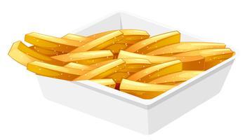 Batatas fritas no disco vetor