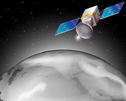 Um satélite no espaço sideral vetor
