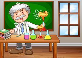 Cientista vetor