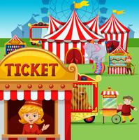 Bilheteria no carnaval vetor