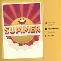 Modelo de Cartaz - acampamento de férias de verão vetor