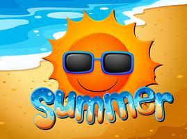 Verão na praia vetor