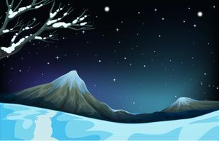 Cena da natureza durante o inverno vetor