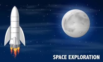 Um foguete e exploração espacial vetor
