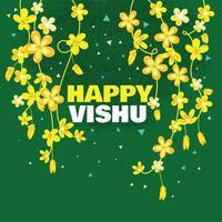 Cartão bonito da flor de Vishukani para o festival de Vishu vetor