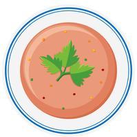 Sopa de legumes em tigela vetor