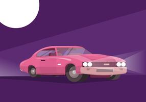 Ilustração em vetor plana retrô carro clássico