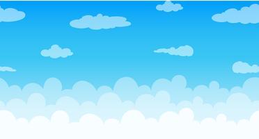 Nuvens sem costura flutuando no céu vetor