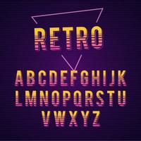 Vetor de alfabeto retrô
