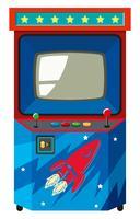 Máquina de jogos de arcade com tema espacial vetor