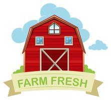 Fazenda celeiro fresco em branco vetor