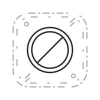 Vector sem entrada ícone