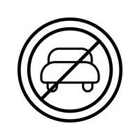 Vector Sem entrada para veículo a motor Icon