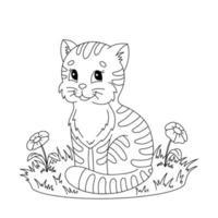 página do livro para colorir para crianças. personagem de estilo de desenho animado. ilustração vetorial isolada no fundo branco. vetor