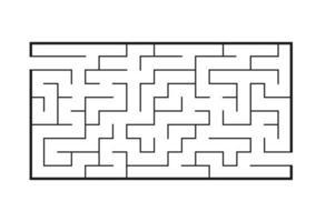 labirinto retangular preto. jogo para crianças. quebra-cabeça para crianças. enigma do labirinto. ilustração em vetor plana isolada no fundo branco.