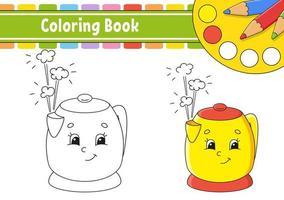 livro de colorir para crianças. personagem alegre. ilustração vetorial. estilo bonito dos desenhos animados. desenhado à mão. página de fantasia para crianças. isolado no fundo branco. vetor
