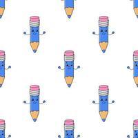 padrão colorido sem costura com personagem de desenho animado bonito. ilustração em vetor plana simples isolada no fundo branco. criar papel de parede, tecido, papel de embrulho, capas, sites.
