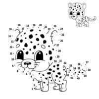 ponto a ponto. Desenhe uma linha. prática de caligrafia. aprender números para crianças. planilha de desenvolvimento educacional. página para colorir de atividades. jogo engraçado. ilustração isolada do vetor. estilo de desenho animado. com resposta. vetor