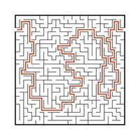 difícil grande labirinto. jogo para crianças e adultos. quebra-cabeça para crianças. enigma do labirinto. encontre o caminho certo. ilustração vetorial plana. vetor