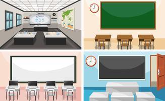 Conjunto de sala de aula moderna vetor