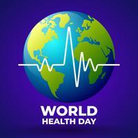 Modelo de Design do ícone de logotipo de campanha do dia mundial da saúde vetor