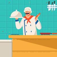 Chefe de cozinha vetor