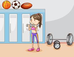 Musculação vetor