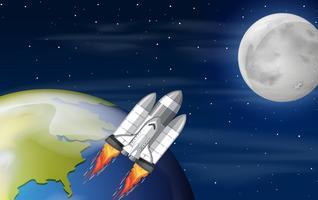 Uma nave espacial no espaço vetor