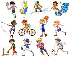 Conjunto de esportes vetor