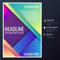 Brochuras Gráficas Design Templates vetor