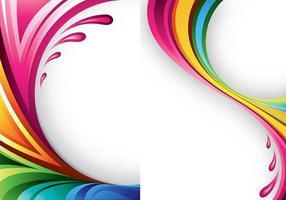 Pacote de papel de parede de cores do Splash Vector Two