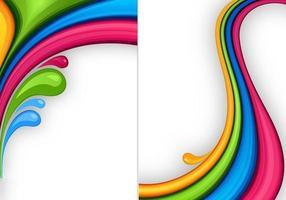 Pacote de papel de parede de cores splash três