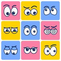 Clipart de olhos dos desenhos animados vetor